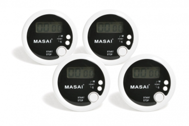 Set of 4 stop watches