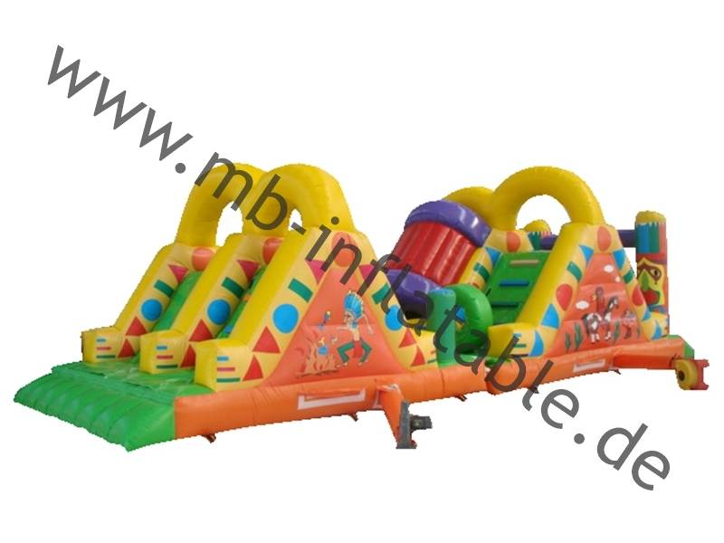 Mb Inflatable Hindernisbahn Indianer In 4m X 12m X 4m