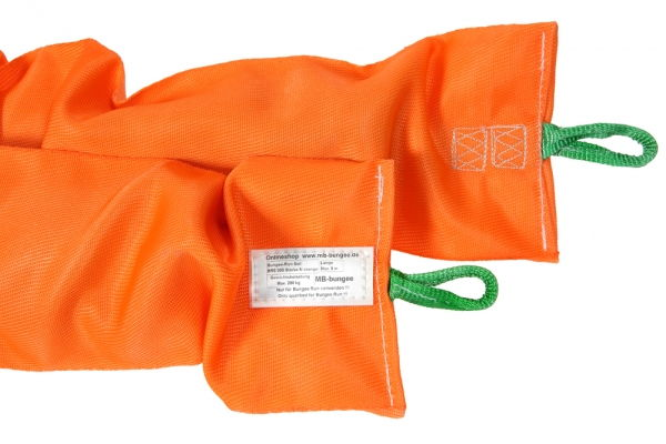 XXL Elastic rope for Bungee-Rung 8m orange (up to 200kg)